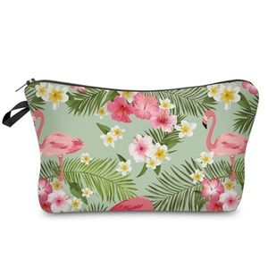 Handbags - NEW Tropical Flamingo Florida Beach Make Up Bag